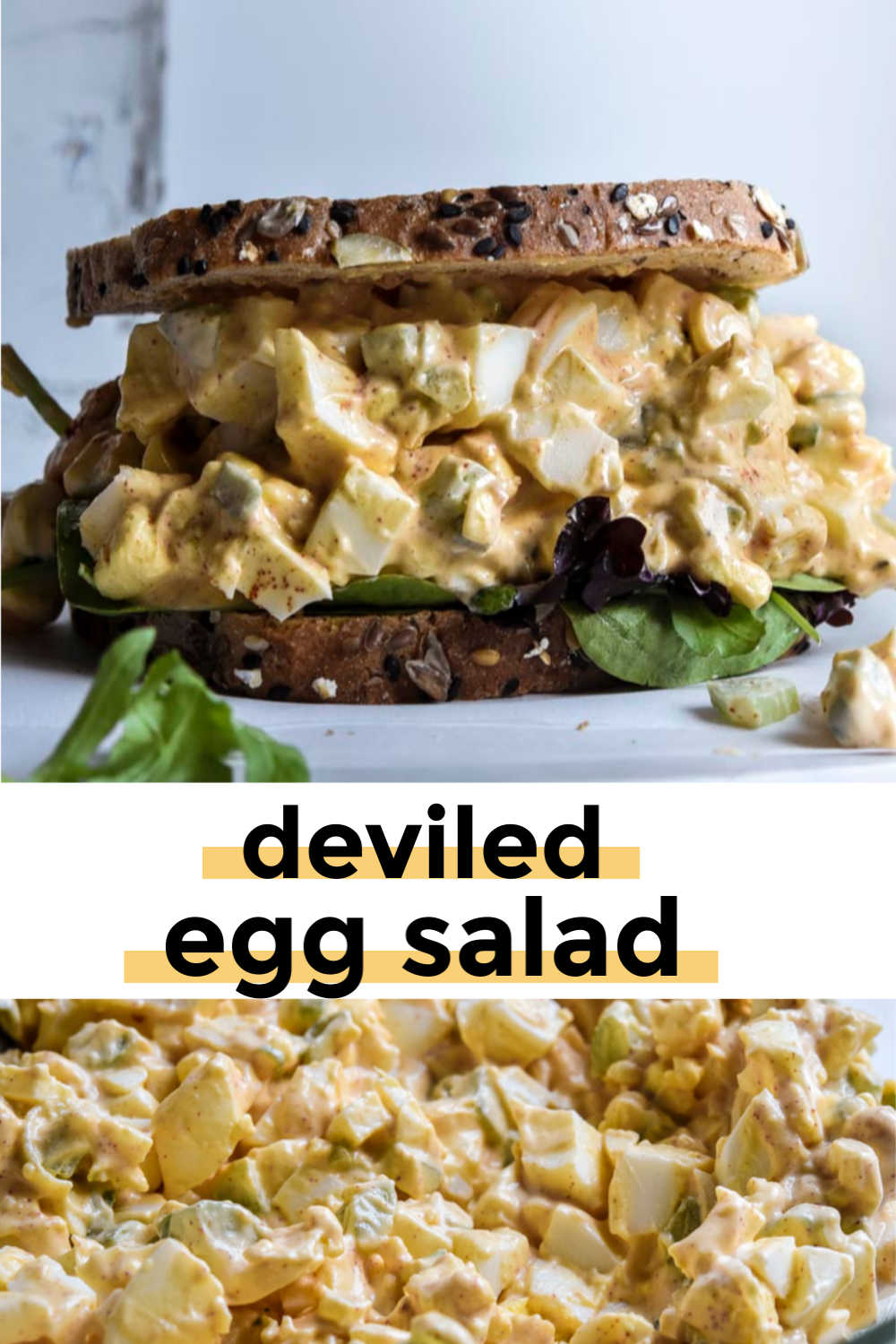 *NEW* When I'm looking for something fast, delicious and that fits my macros, I reach for this deviled egg salad recipe that's packed with flavor, protein, and healthy fat. #deviledeggsalad #lowcarbdeviledeggsalad