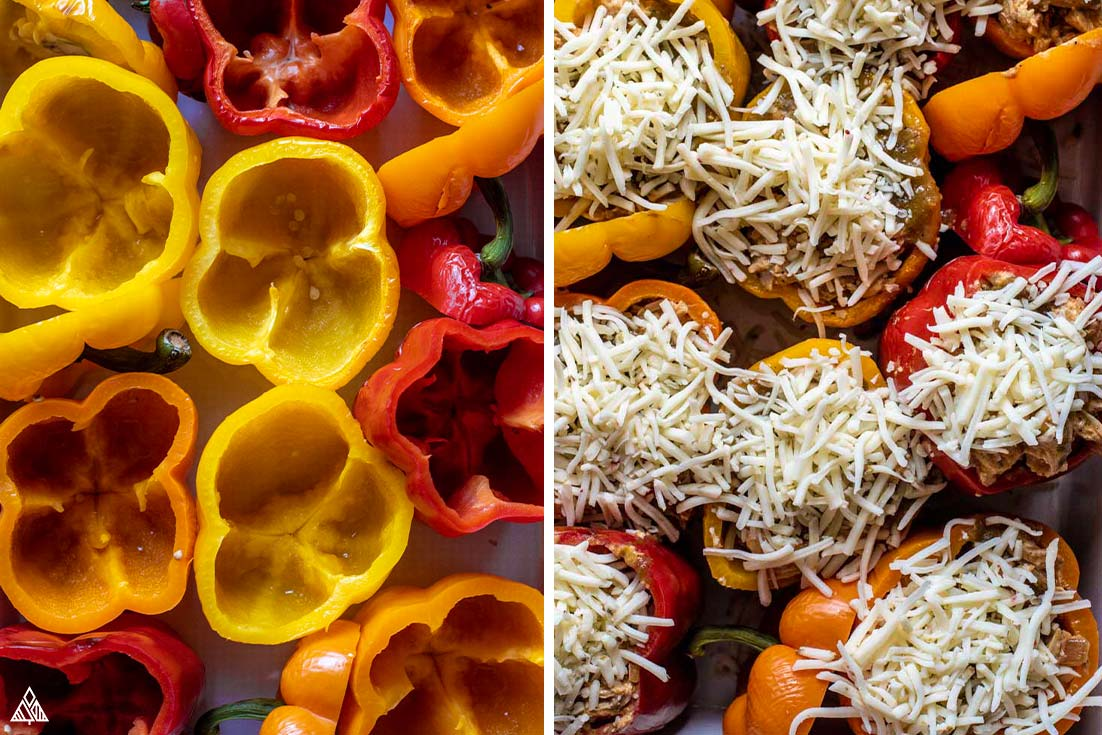 how to make stuffed peppers without rice
