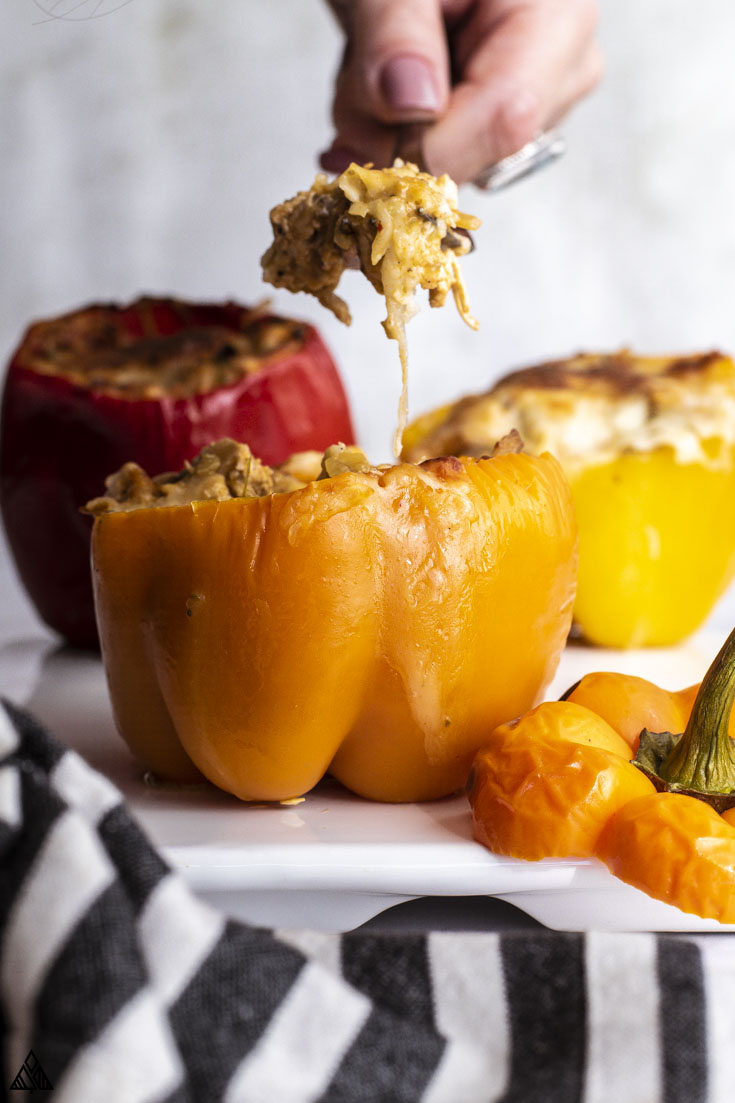 cheesy filling of stuffed peppers without rice