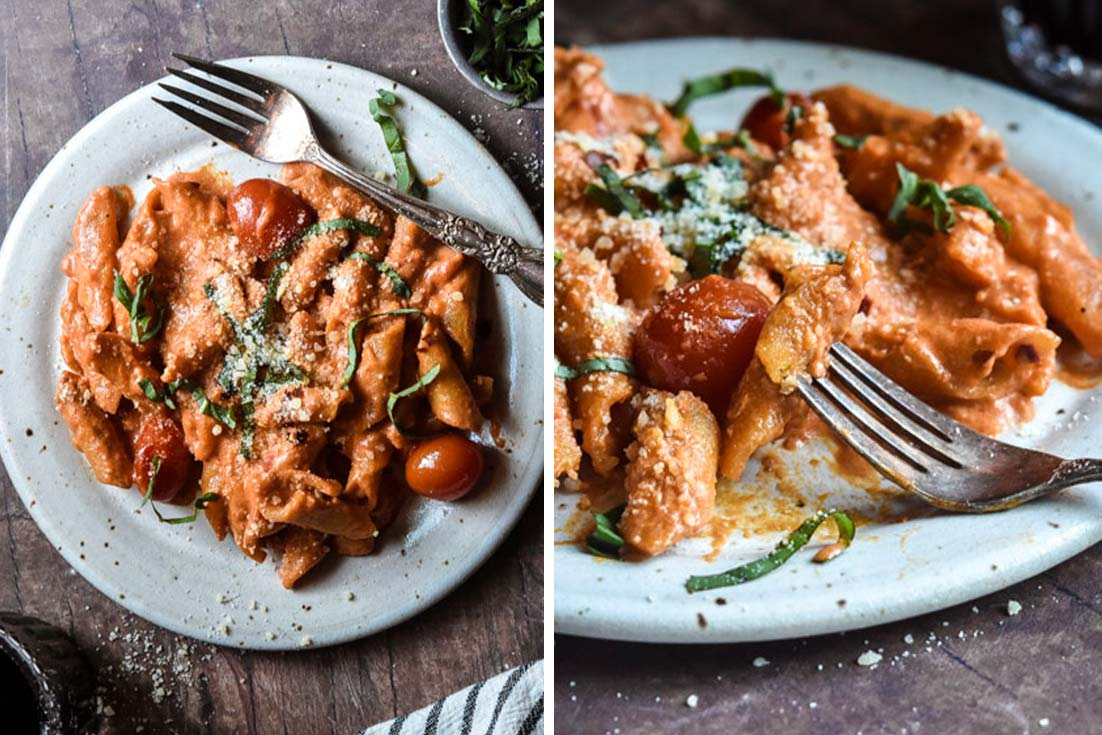 low carb pasta made into penne