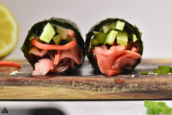 2 low carb sushi rolls