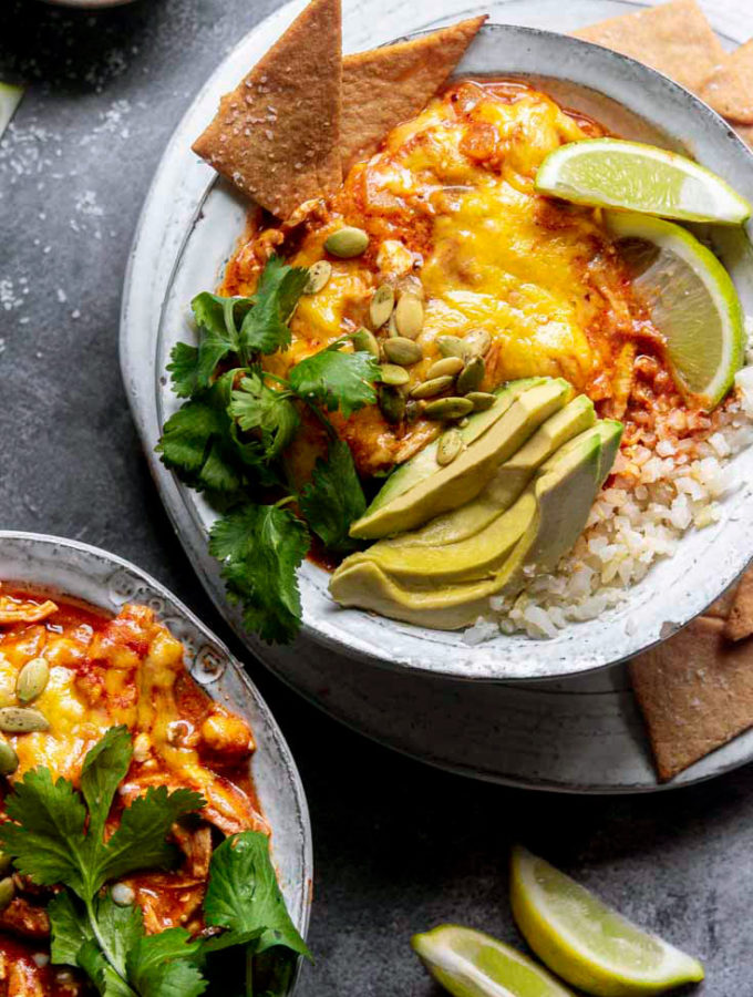 Enchilada in a Bowl (Low Carb + Keto!)