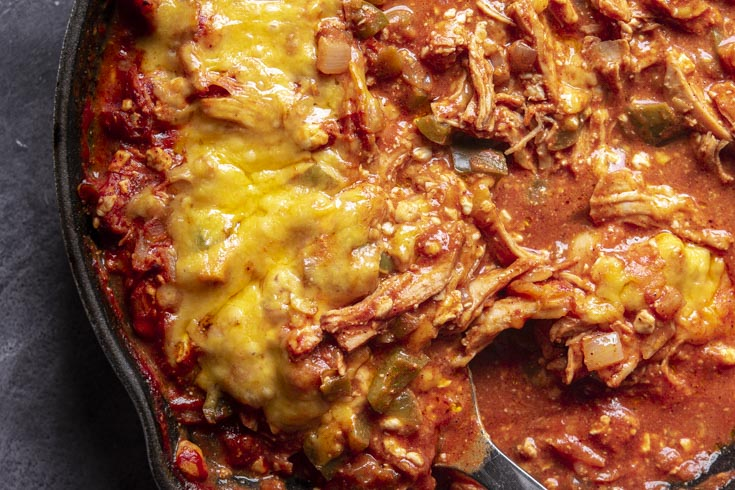 Closer look of enchilada