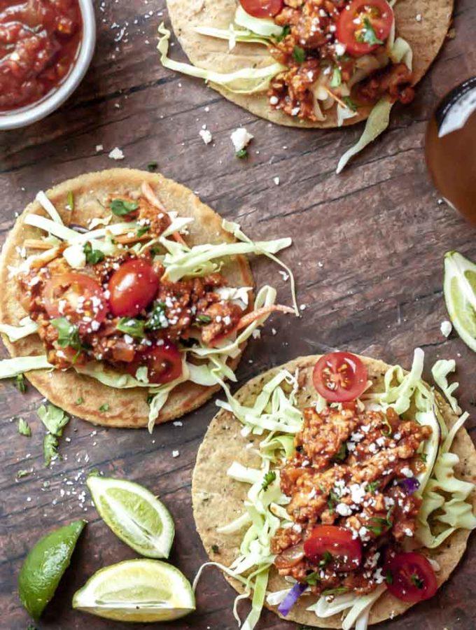 Ground Chicken Tacos (Juicy + Delish!)