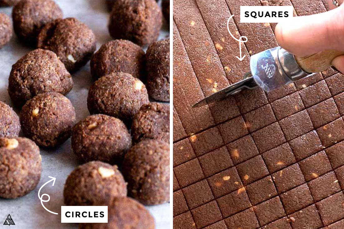 how to make low carb cocoa puffs, in circle or in square shapes