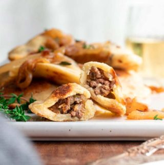 Low carb dumplings in a plate