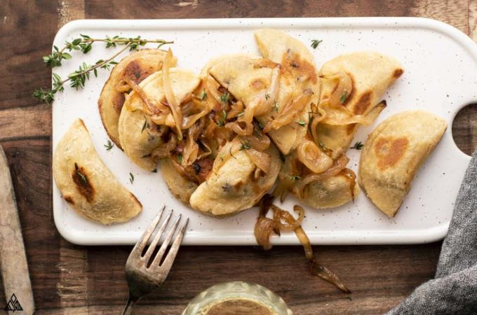 Low carb dumplings overhead