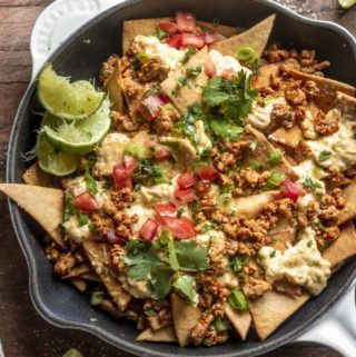 Top view of low carb nachos