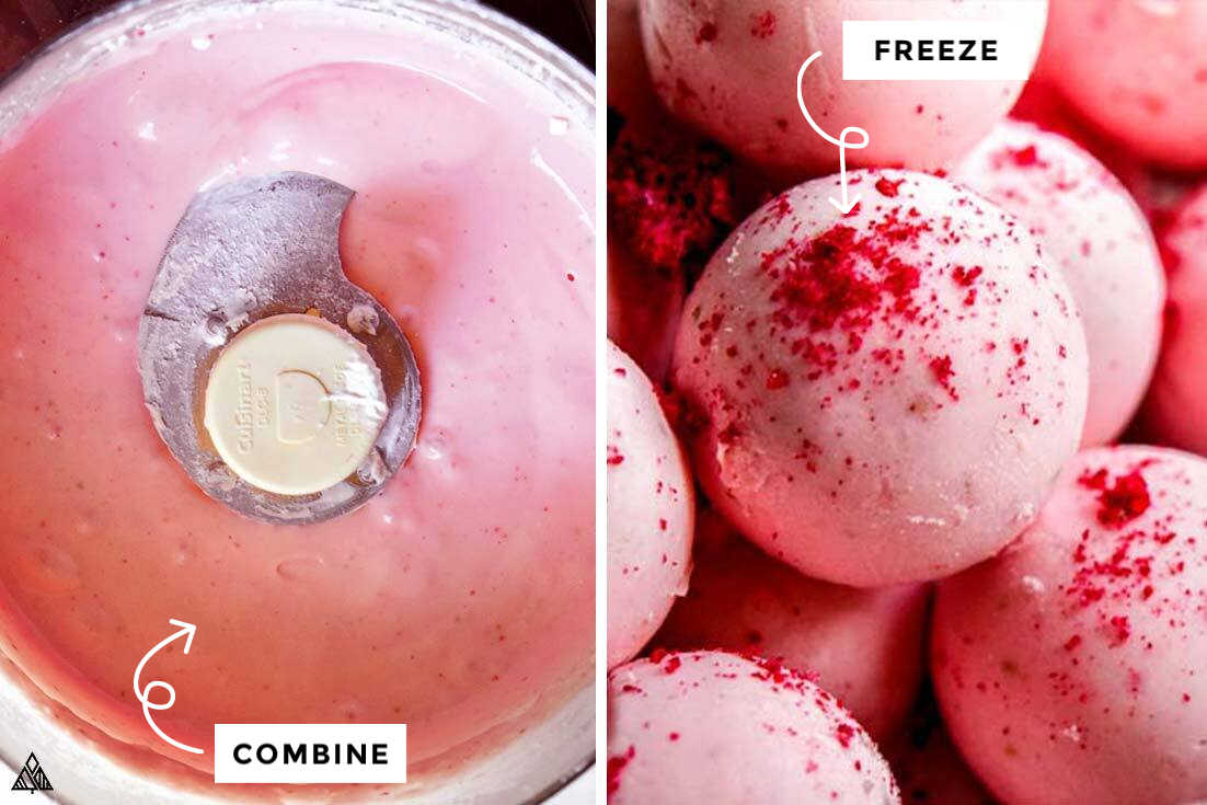 how to make strawberry cheesecake fat bombs in a food processor