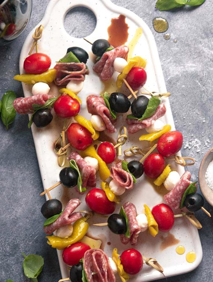 Antipasto Skewers (Keto + Low Carb!)