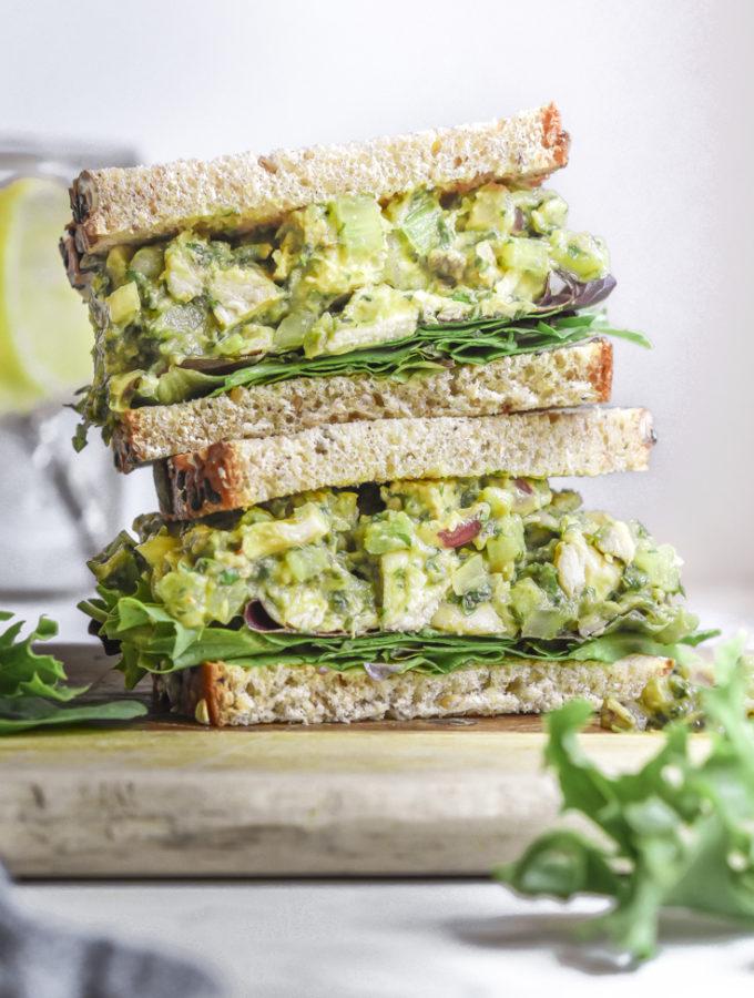 Avocado Chicken Salad (Low Carb +Paleo!)