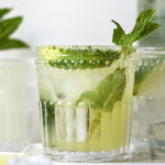 Keto mojito in a glass