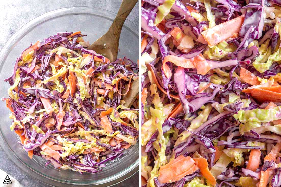 steps for how to make low carb coleslaw