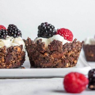 Closer look of low carb granola cups