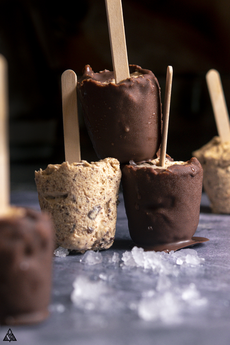 Closer look of low carb ice cream bars