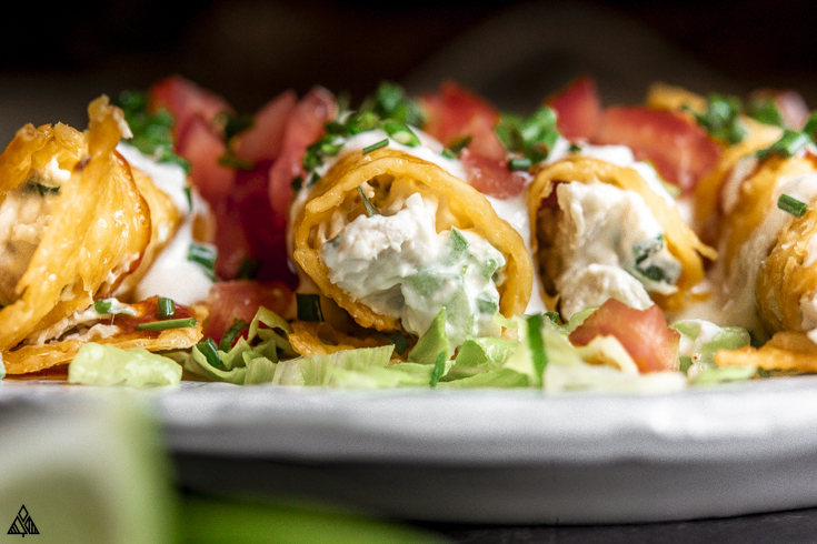 keto chicken taquitos on a plate