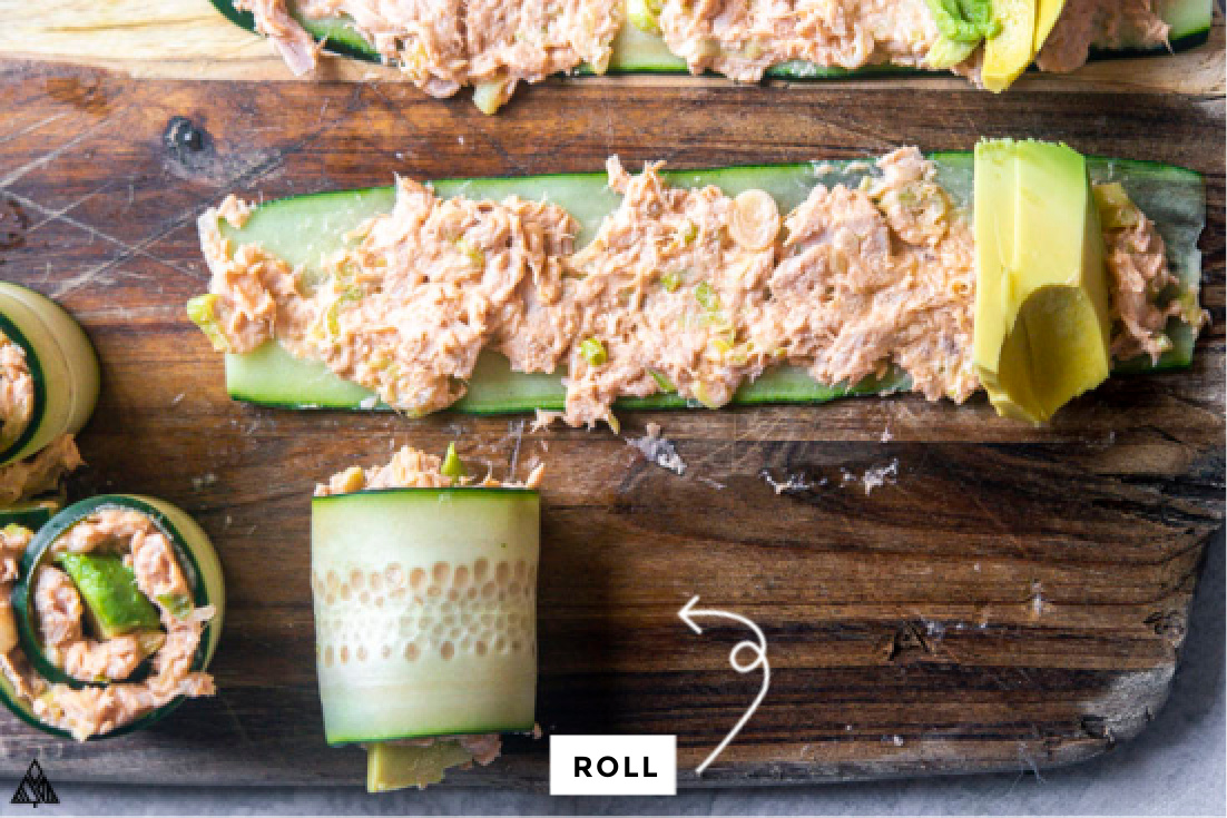 how to make Spicy Tuna Salad rolls