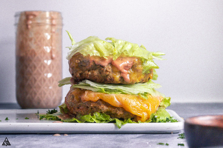 Low carb big mac with sauce on the side