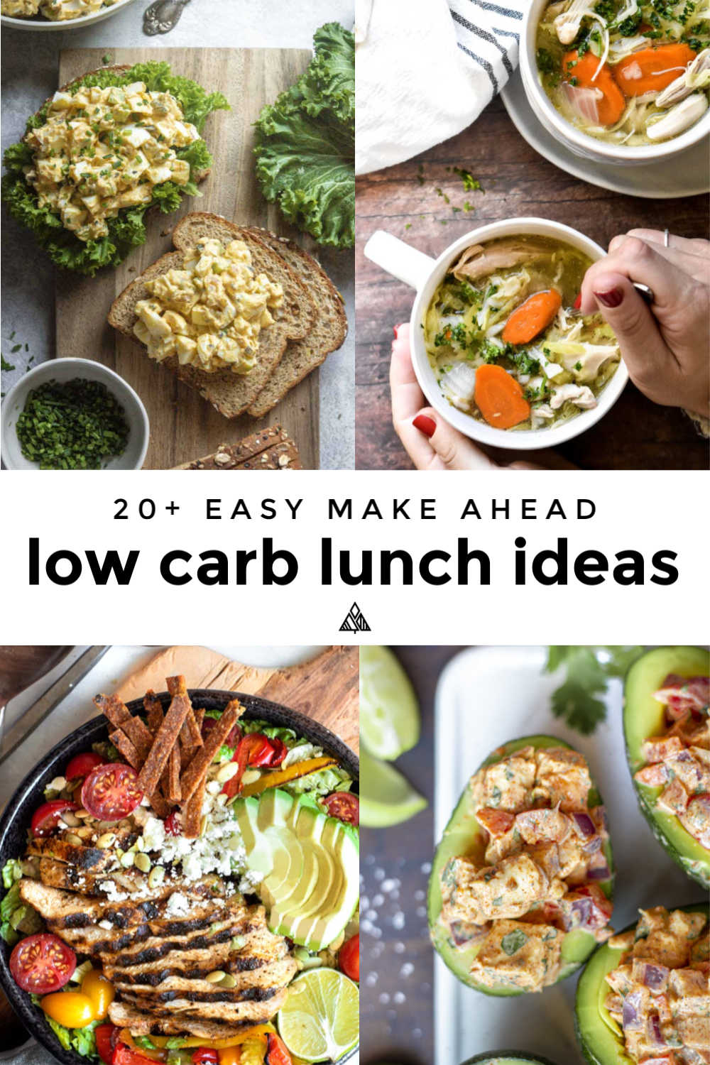 Low carb lunch ideas recipes are here for the win! Forget stressin' on Sunday's about this week's lunches! Kick back, this is your super-duper low carb cheat sheet! #lowcarblunchideas #ketolunchideas
