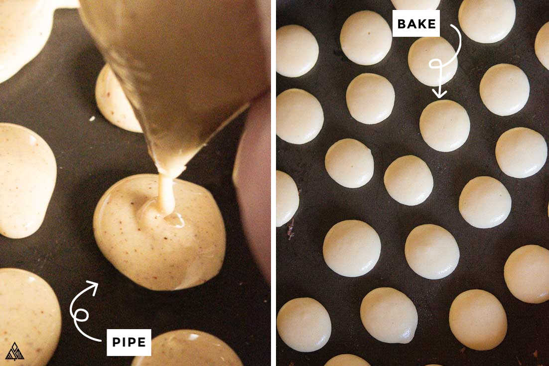 Collage of how to make low carb pancake cereal