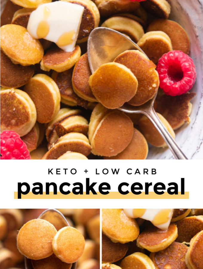 Low Carb Pancake Cereal (Mini Pancakes!)