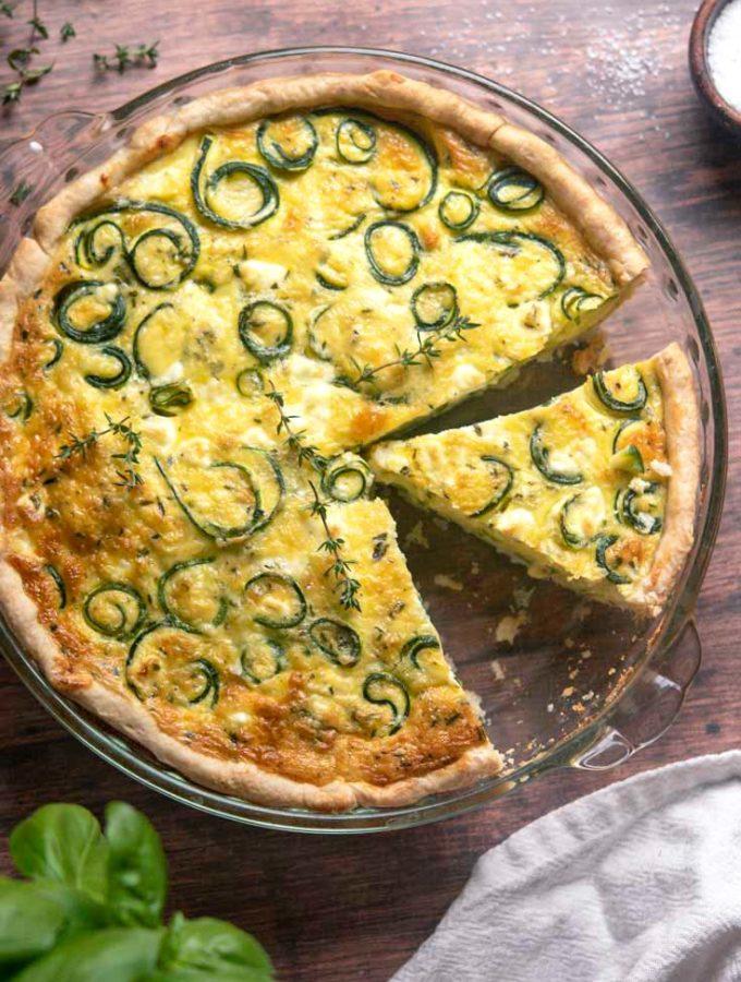 Zucchini Quiche (2g Net Carbs!)