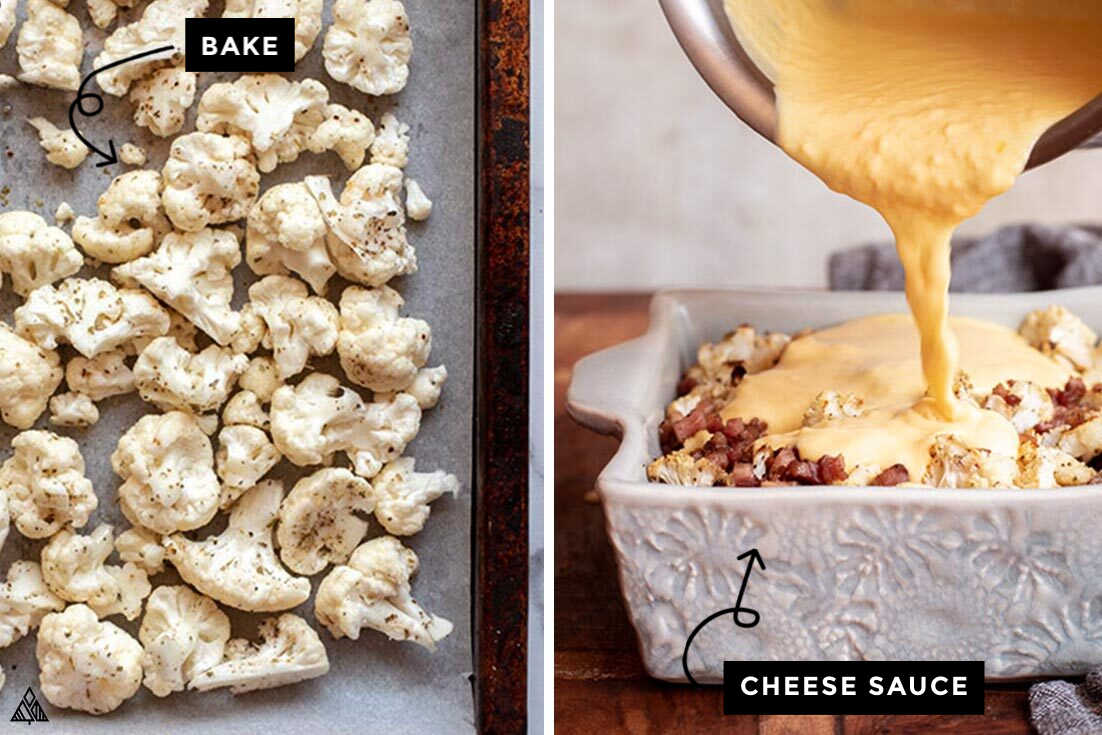steps for how to make cauliflower mac and cheese