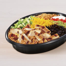 keto taco bell - chicken power bowl