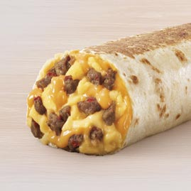 keto breakfast at taco bell, burrito without the tortilla