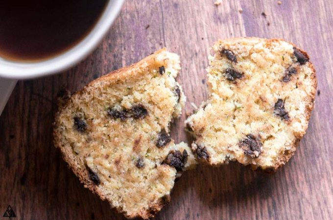 Slice of low carb zucchini bread