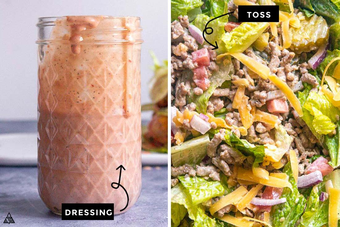 steps for how to make big mac salad