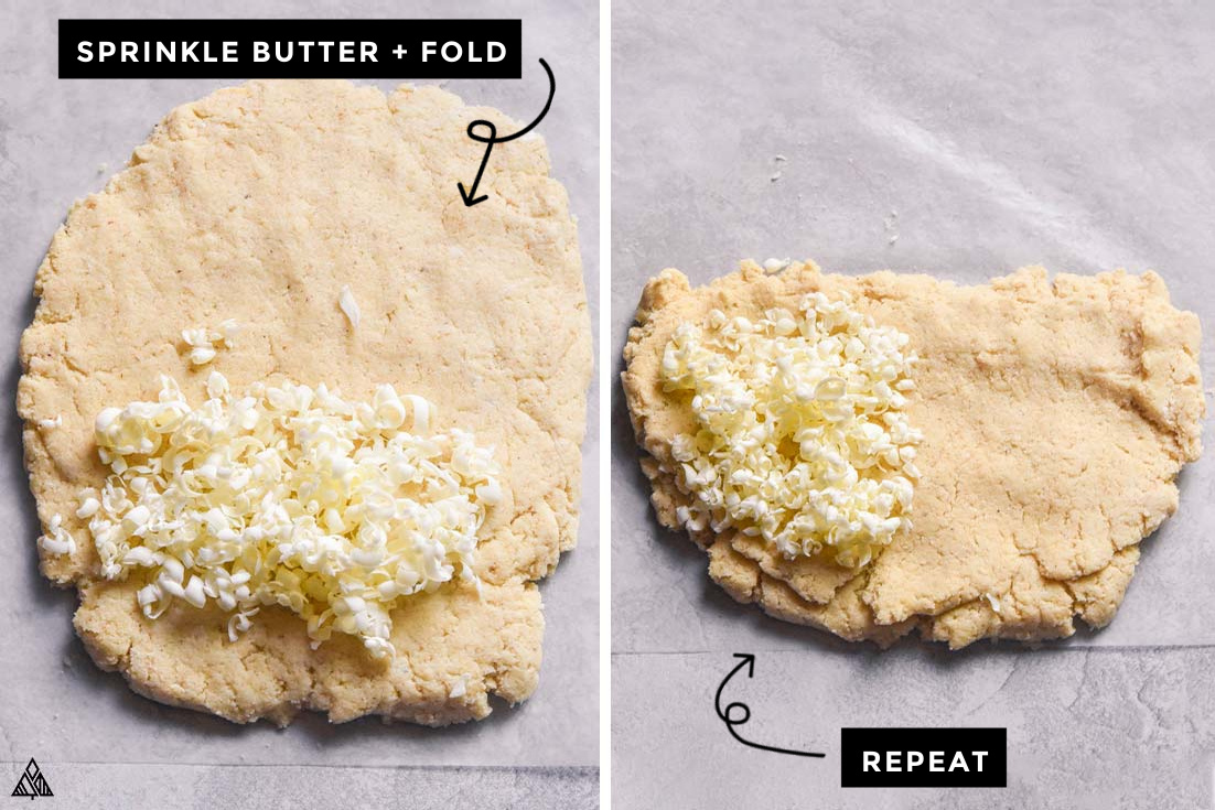 steps for how to make low carb biscuits