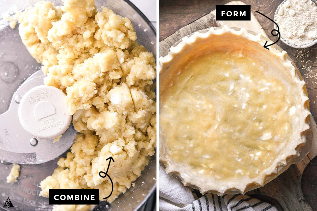 how to make low carb pie crust recipe steps