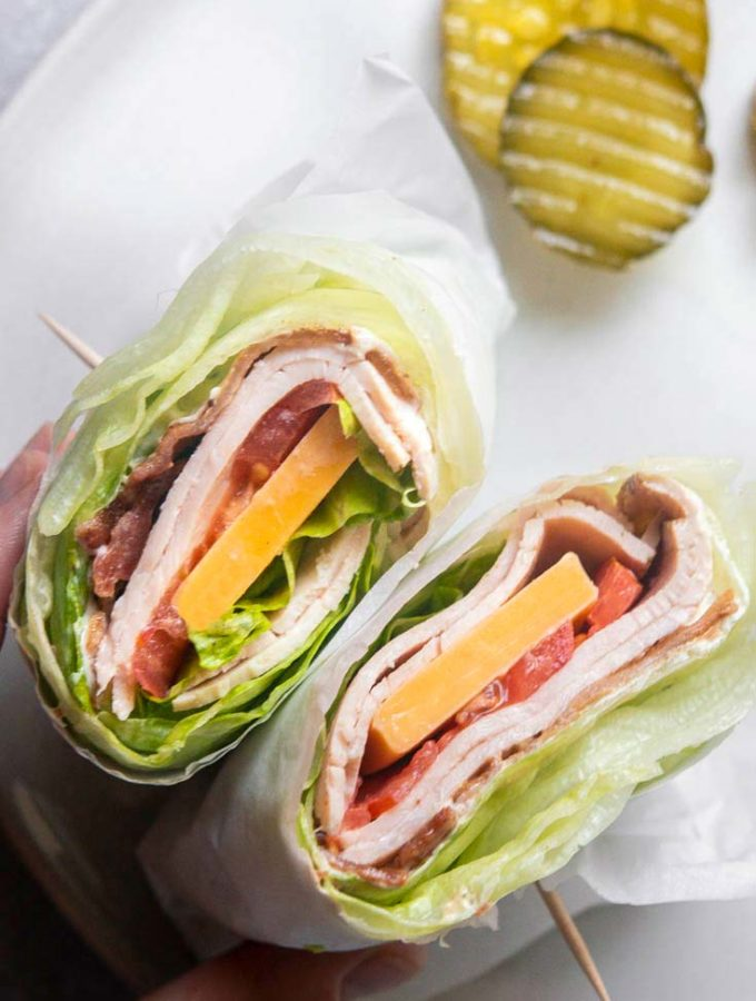 Turkey Club Wraps (Keto + Low Carb!)