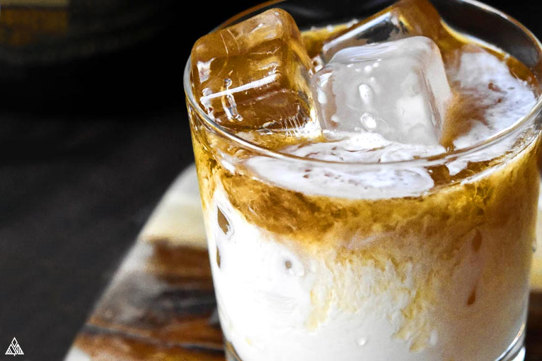 closer look of keto white russian