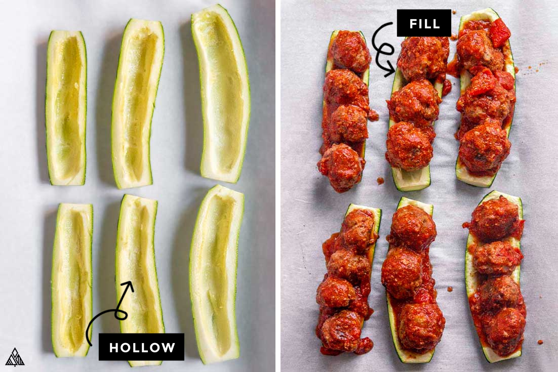 how to make zucchini meatball subs