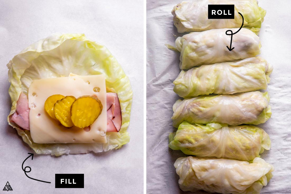 steps for how to make cabbage wraps