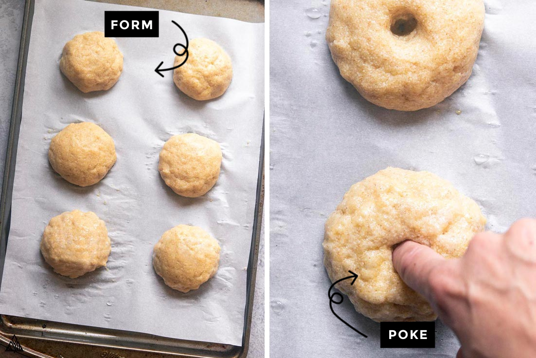 Steps for how to make Low carb bagel