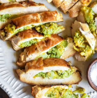 Broccoli And Cheese Stuffed Chicken (Low Carb!)