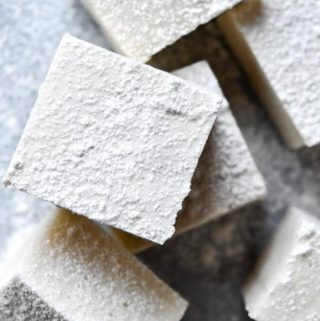 Top view of low carb marshmallows