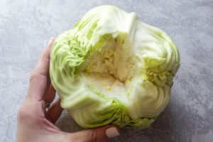 how to core a cabbage for keto cabbage rolls