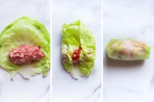 how to roll keto cabbage rolls