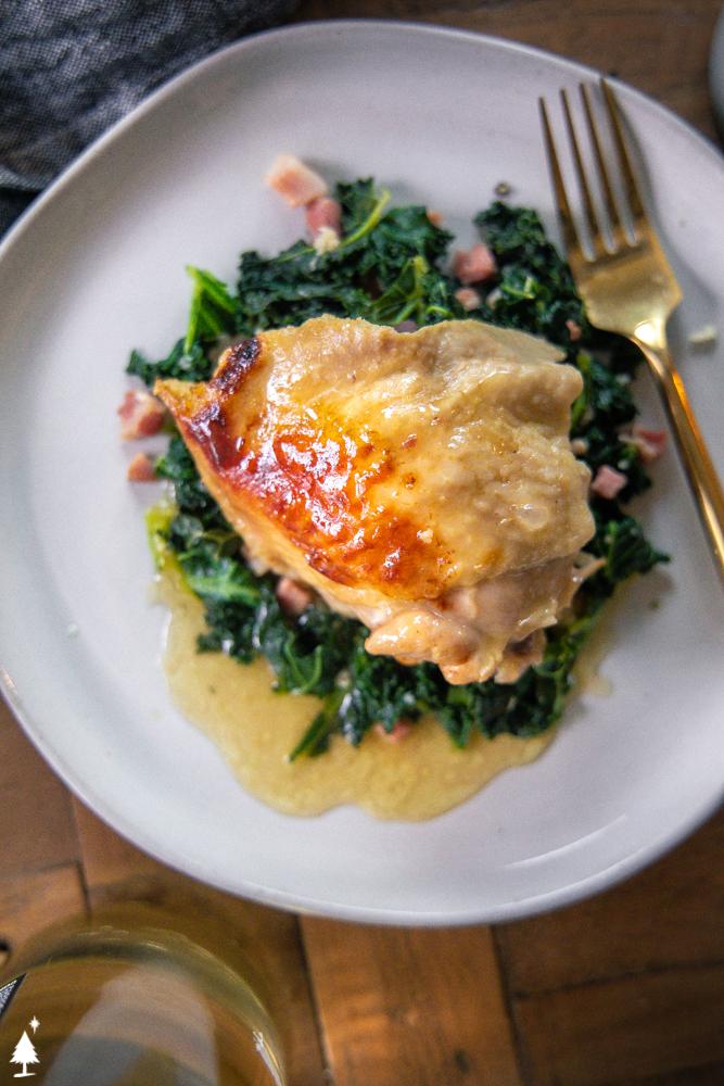 chicken brine dish on a plate
