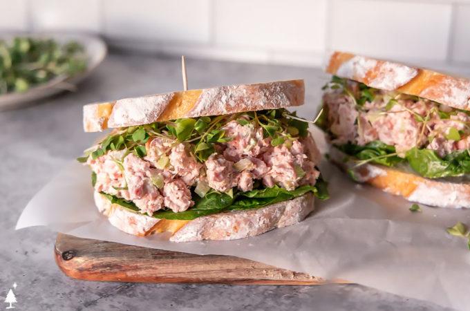 ham salad recipe in a sandwich bread