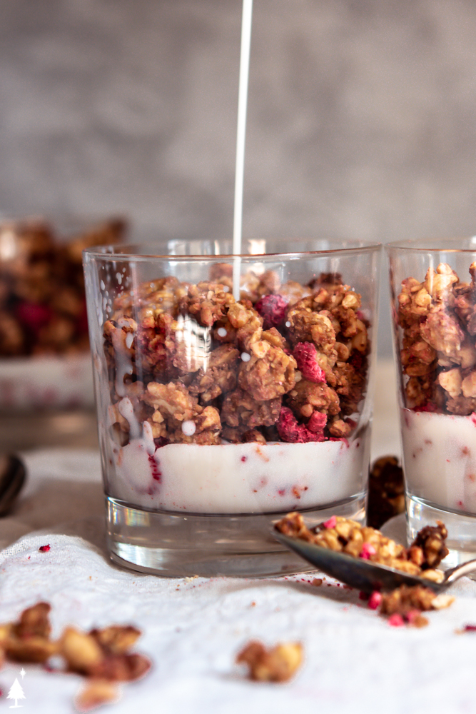 keto granola in a glass