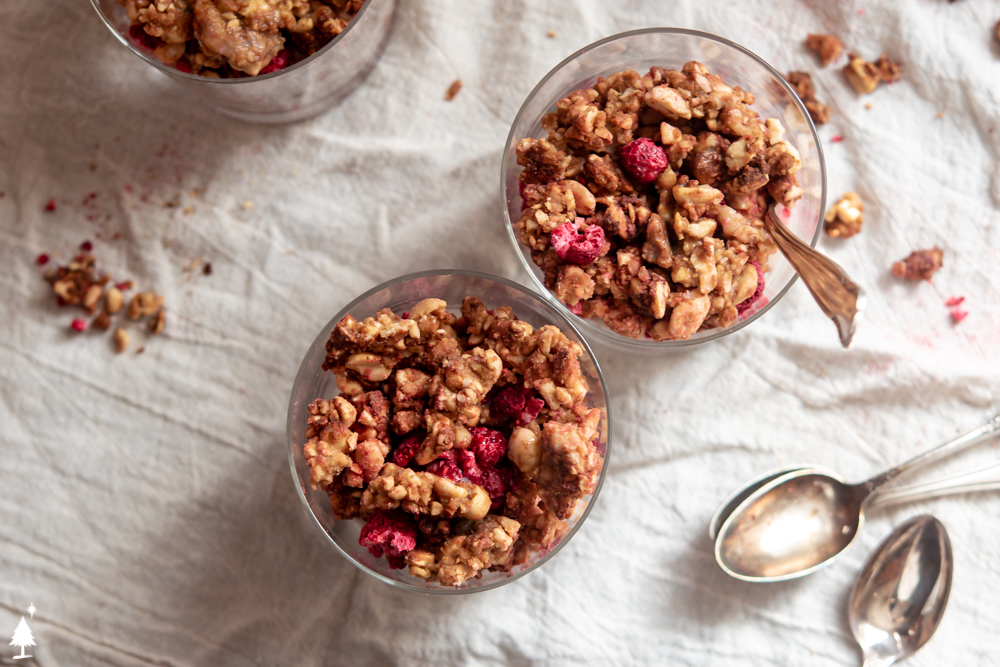 low carb granola recipe in a glass