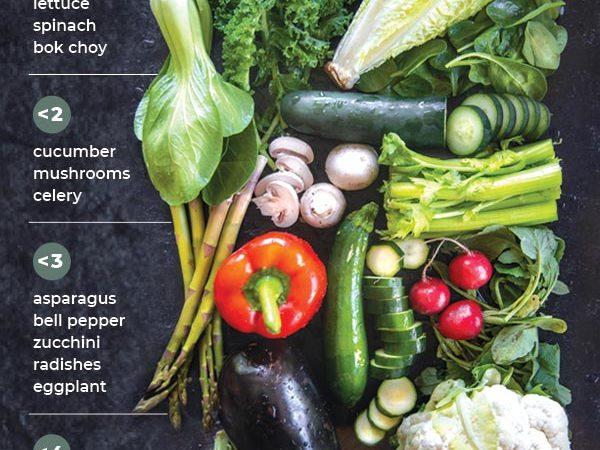 keto vegetables chart