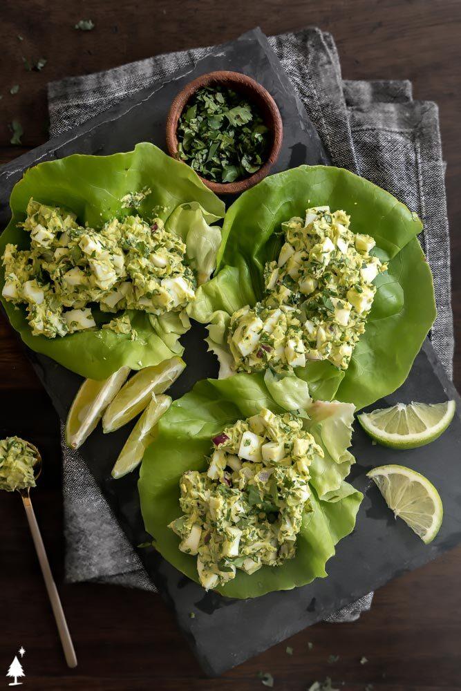avocado salad on a lettuce