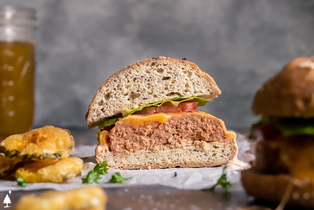 Low carb burger bun alternative