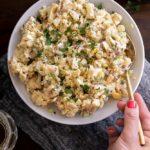 Creamy Cauliflower Potato Salad (Keto!)